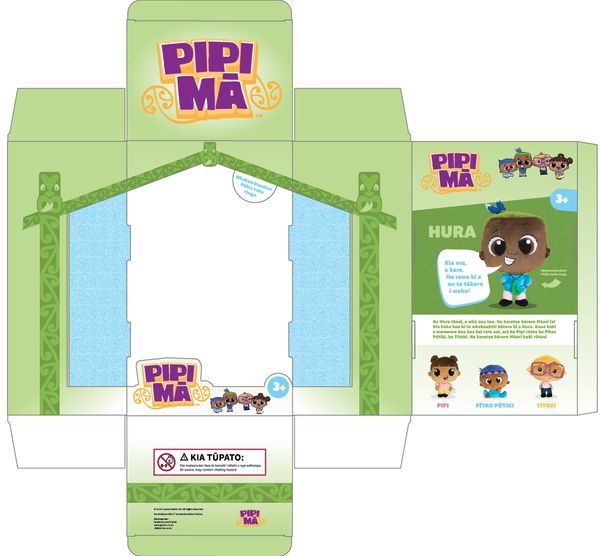 Pipi Ma Hura Box Packaging Template Layout