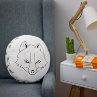 Round Animal Pillow – Fox