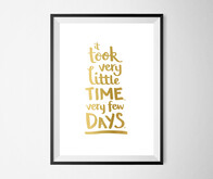 Cinematic Typography Series – Very Few Days – Gold A3